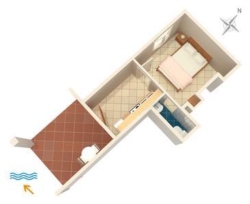 Apartament A-4604-c - Apartamenty Uvala Pokrivenik (Hvar) - 4604