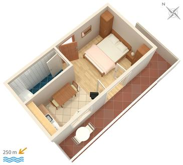 Studio flat AS-4607-b - Apartments Hvar (Hvar) - 4607