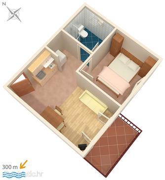 Apartment A-4613-a - Apartments and Rooms Hvar (Hvar) - 4613