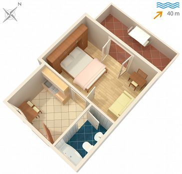 Apartament A-4621-c - Apartamenty Jelsa (Hvar) - 4621