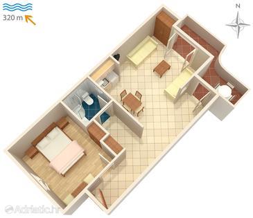 Apartment A-4633-c - Apartments Vrboska (Hvar) - 4633