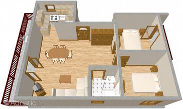 Srima - Vodice, Plan u smještaju tipa apartment.