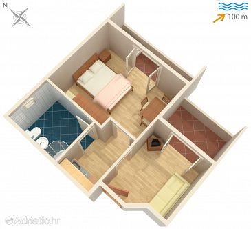 Studio flat AS-4654-a - Apartments Omiš (Omiš) - 4654