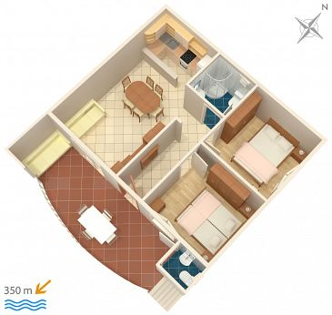 Apartment A-4671-a - Apartments Promajna (Makarska) - 4671