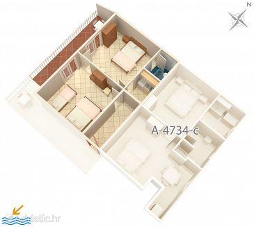 Apartment A-4734-b - Apartments Podaca (Makarska) - 4734