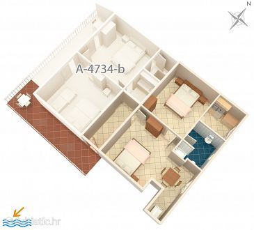 Apartment A-4734-c - Apartments Podaca (Makarska) - 4734