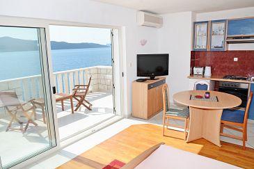 Slano, Dining room u smještaju tipa apartment, dostupna klima i WIFI.