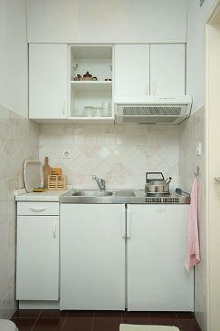 Mlini, Kitchen u smještaju tipa studio-apartment.