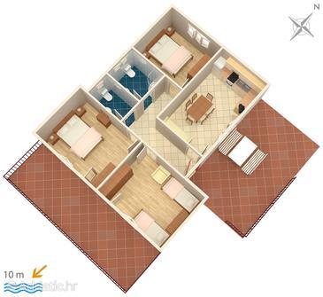 Apartment A-4833-a - Apartments Brodarica (Šibenik) - 4833