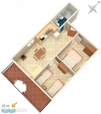 Apartment A-4842-a - Apartments Okrug Donji (Čiovo) - 4842
