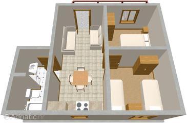 Apartment A-485-a - Apartments Žaborić (Šibenik) - 485
