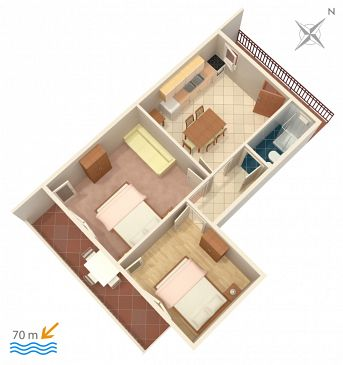 Apartment A-4850-a - Apartments Marina (Trogir) - 4850