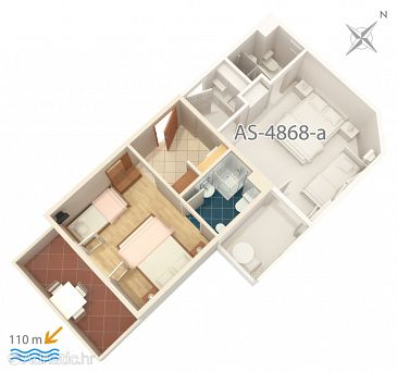 Studio flat AS-4868-b - Apartments Balića Rat (Omiš) - 4868