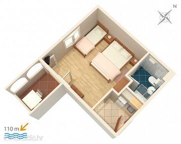 Studio flat AS-4868-g - Apartments Balića Rat (Omiš) - 4868