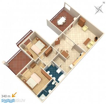 Apartment A-4872-a - Apartments Brela (Makarska) - 4872