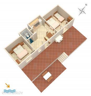 Apartment A-4875-b - Apartments Uvala Torac (Hvar) - 4875