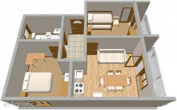 Apartment A-488-b - Apartments Pirovac (Šibenik) - 488