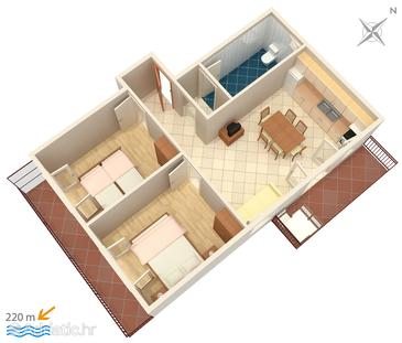 Apartment A-4882-a - Apartments Grebaštica (Šibenik) - 4882