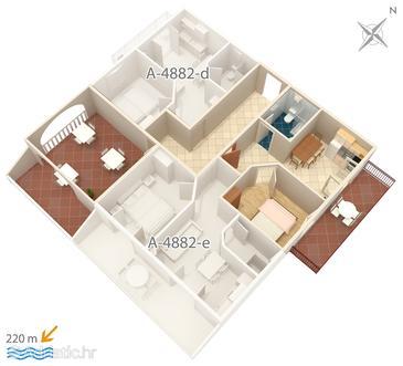 Apartment A-4882-c - Apartments Grebaštica (Šibenik) - 4882