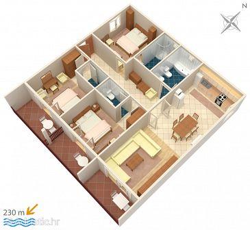 Apartment A-4890-a - Apartments Drvenik Gornja vala (Makarska) - 4890