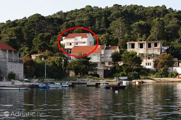 Pomena, Mljet, Property 4917 - Apartments and Rooms blizu mora with pebble beach.