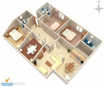 Apartment A-4973-a - Apartments and Rooms Barbat (Rab) - 4973