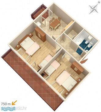 Apartment A-4988-a - Apartments Barbat (Rab) - 4988