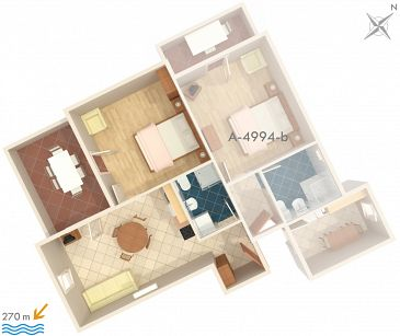 Apartment A-4994-a - Apartments Barbat (Rab) - 4994
