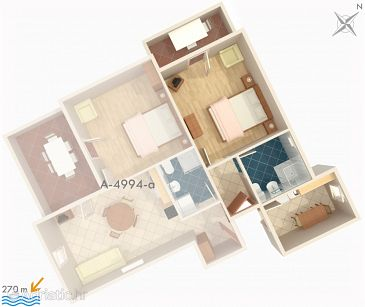 Apartment A-4994-b - Apartments Barbat (Rab) - 4994