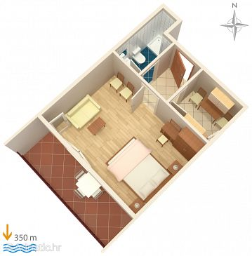 Apartment A-5011-d - Apartments Palit (Rab) - 5011