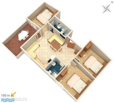 Apartment A-5037-a - Apartments Kampor (Rab) - 5037