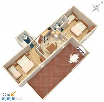 Apartment A-5050-c - Apartments Suha Punta (Rab) - 5050