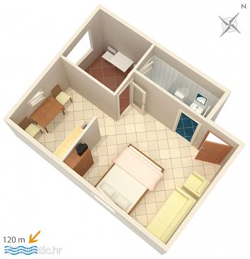 Studio flat AS-5050-c - Apartments Suha Punta (Rab) - 5050