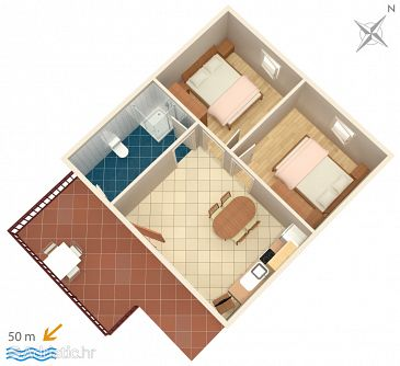 Apartment A-5057-d - Apartments Jezera (Murter) - 5057