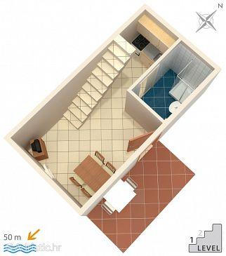 Jezera, Plan u smještaju tipa apartment, dopusteni kucni ljubimci i WIFI.