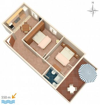 Apartment A-5070-b - Apartments and Rooms Barbat (Rab) - 5070