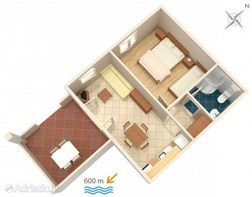 Apartment A-5071-a - Apartments Banjol (Rab) - 5071