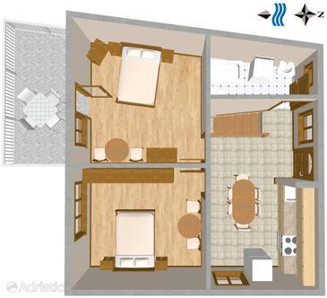 Apartment A-508-a - Apartments Brist (Makarska) - 508