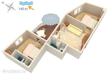 Apartment A-5120-b - Apartments Jezera (Murter) - 5120
