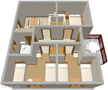 Apartment A-514-a - Apartments Podaca (Makarska) - 514