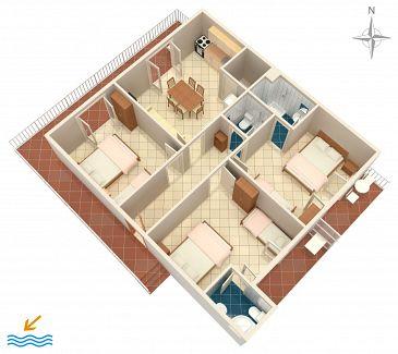 Apartment A-515-a - Apartments Podaca (Makarska) - 515
