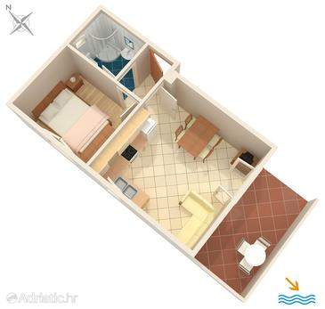 Apartment A-5159-a - Apartments Krilo Jesenice (Omiš) - 5159