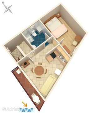 Apartment A-5159-b - Apartments Krilo Jesenice (Omiš) - 5159