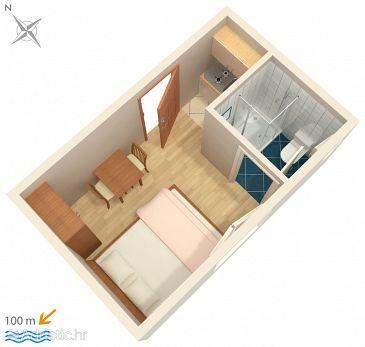 Studio flat AS-516-a - Apartments Podaca (Makarska) - 516