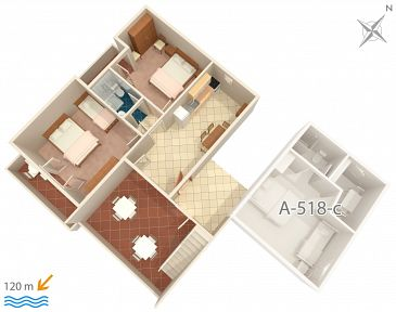 Apartment A-518-d - Apartments Podgora (Makarska) - 518