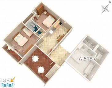 Apartament A-518-d - Apartamenty Podgora (Makarska) - 518