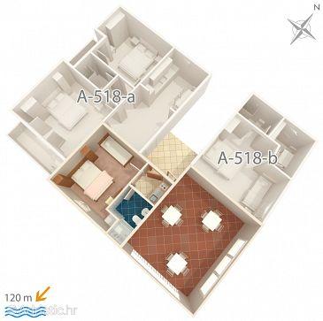 Studio flat AS-518-a - Apartments Podgora (Makarska) - 518