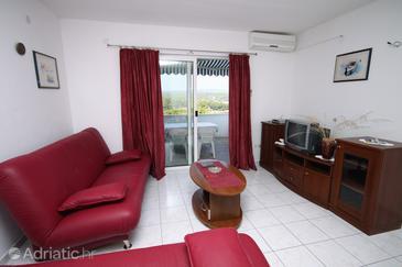 Nečujam, Living room u smještaju tipa apartment, dostupna klima i WIFI.