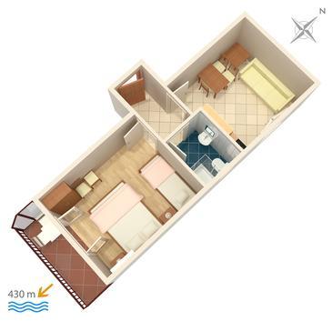 Apartament A-5198-c - Apartamenty Gradac (Makarska) - 5198