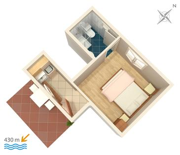 Studio flat AS-5198-b - Apartments Gradac (Makarska) - 5198